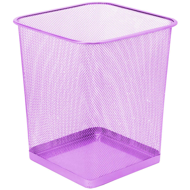 Mesh Trash Bin Purple