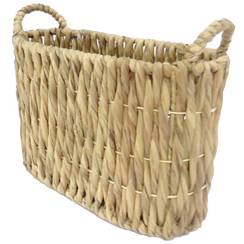 Large Oval Twist Weave Basket