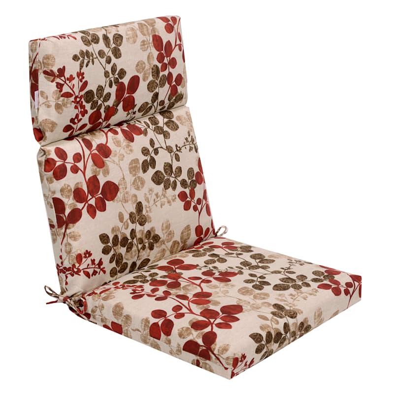 Cabrera Sangria Outdoor Hinged Chair Cushion
