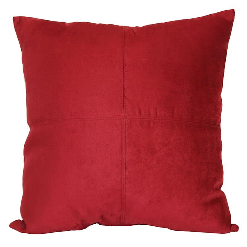 Sandstone Heavy Faux Suede Oversized Pillow 24X24