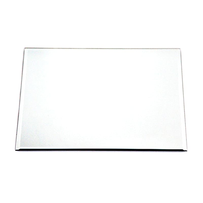12in. Glass Square Beveled Edge Mirror Candle Plate