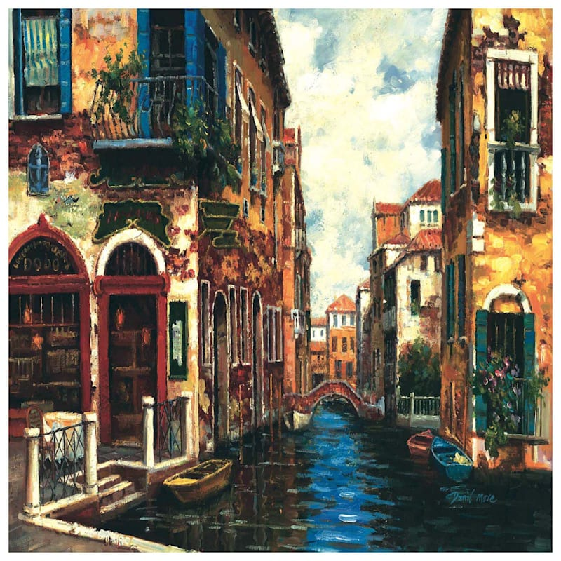 36X24 Venice Canal Canvas