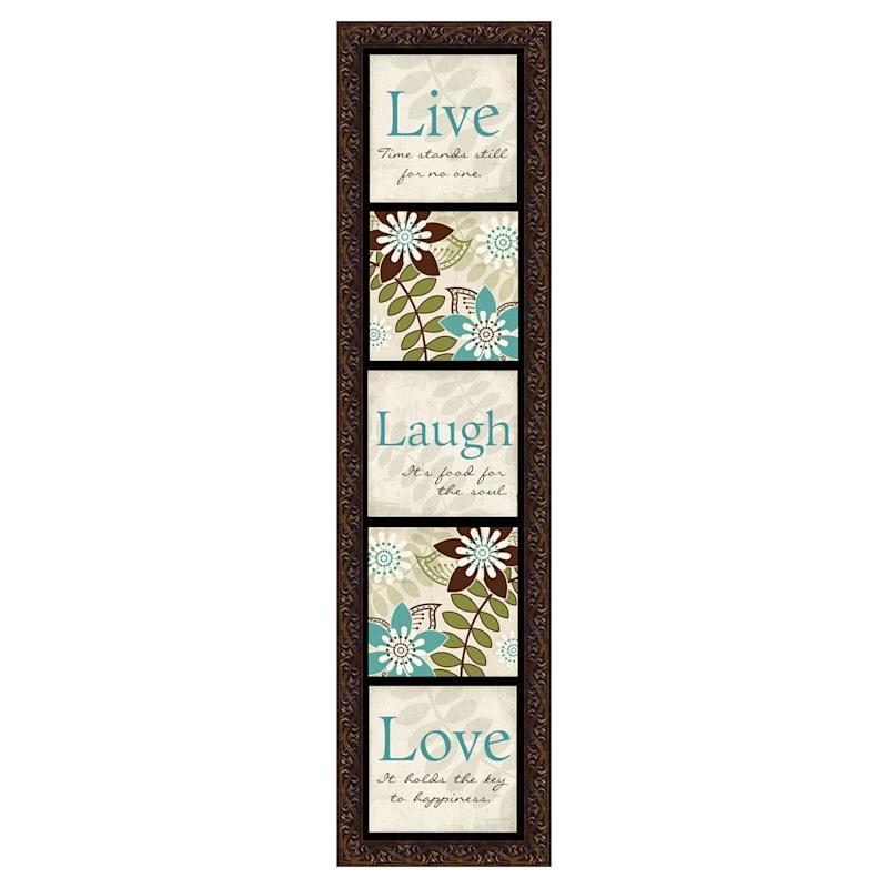 8X33 Live Laugh Love Framed Textured Art