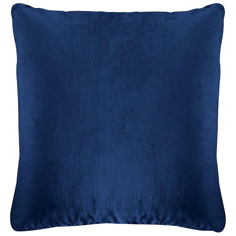 Gillmore Navy Velvet Decorative Pillow 24X24
