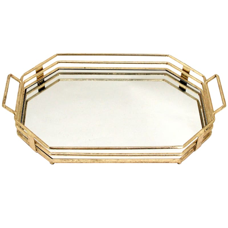 23in. Iron Tray With Mirror Top