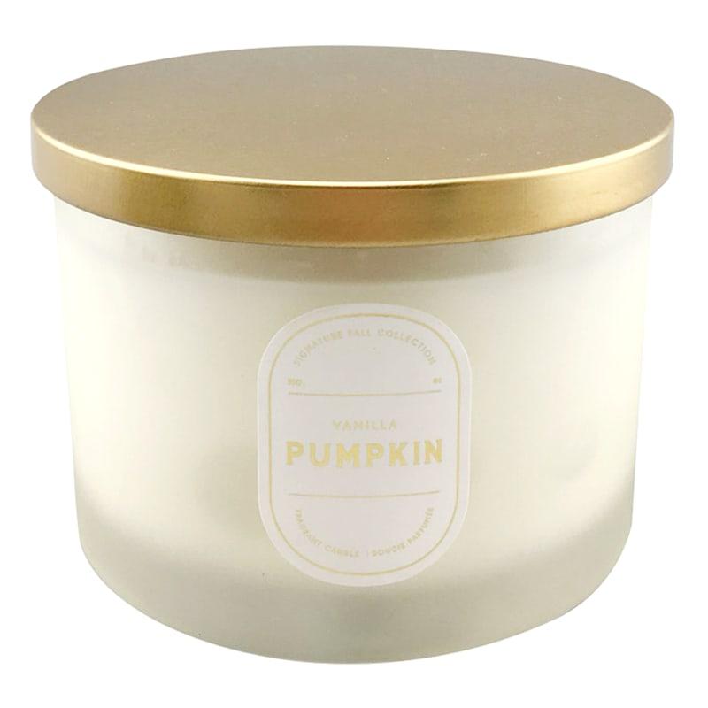 3 Wick Vanilla Pumpkin Glass Candle, 16oz