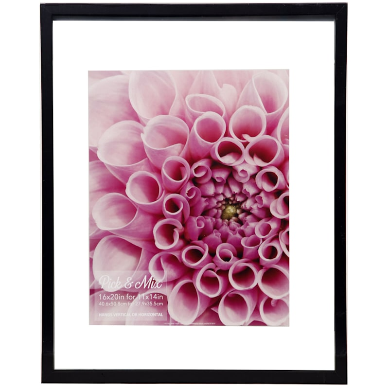 Pick And Mix 16X20 Black Linear Float Photo Wall Frame