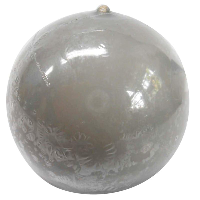 2.8in. Overdip Sphere Candle Grey