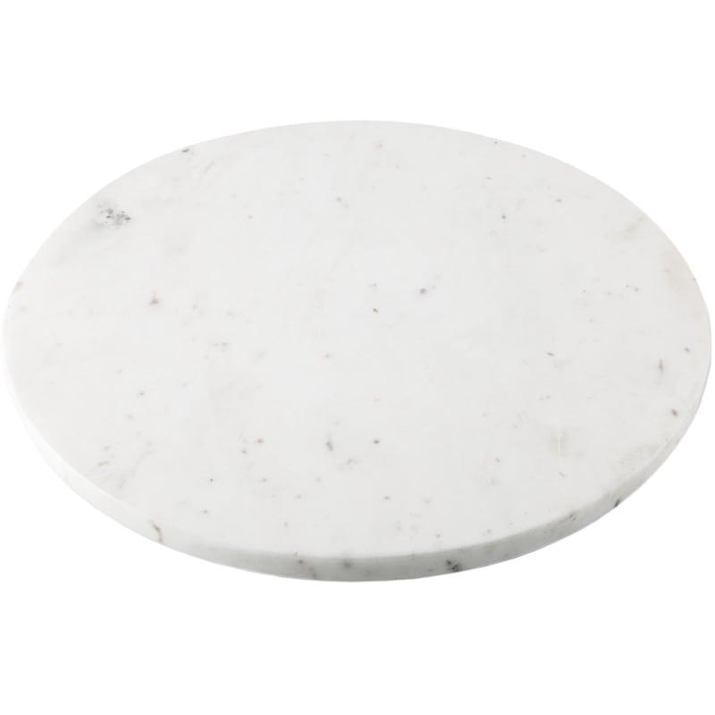 Round White Marble Lazy Susan