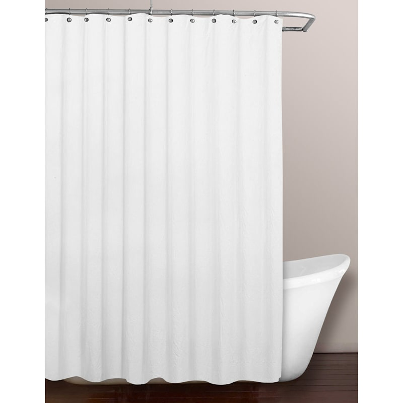 White PVC Heavyweight Shower Liner 70X72
