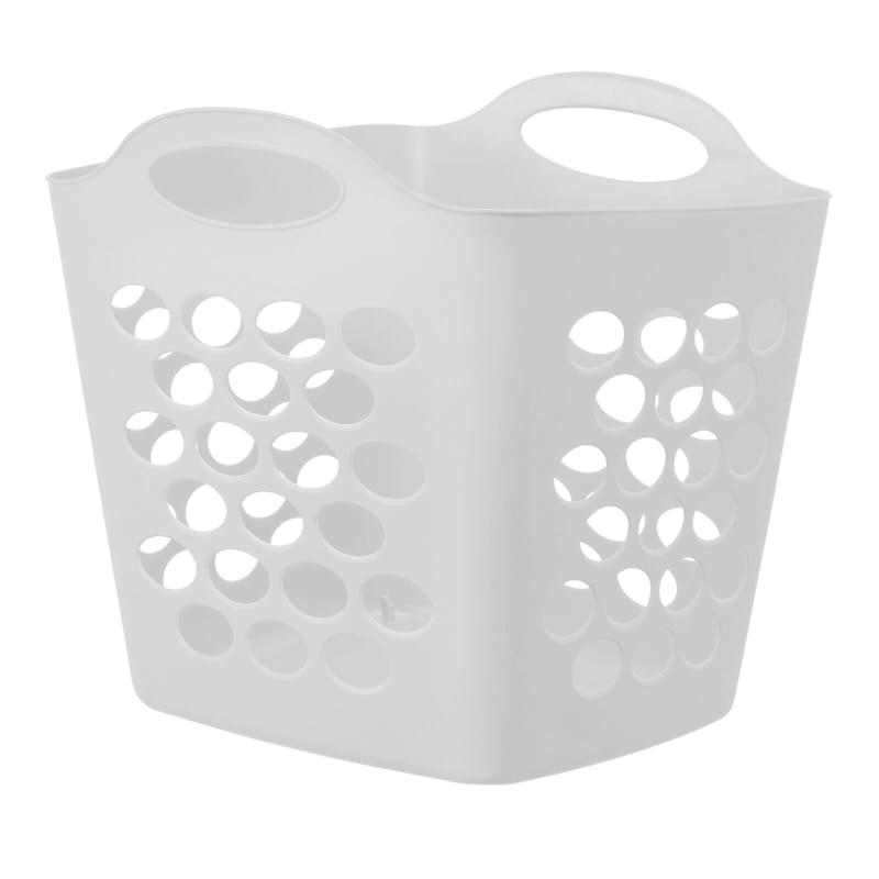 Tall Flex Laundry Basket White