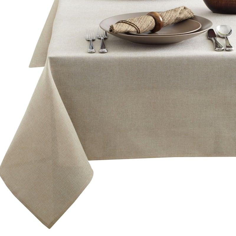 Tweed 60X84 Table Cloth Flax