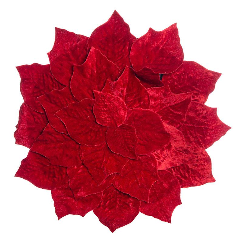 Velvet Poinsettia Placemat
