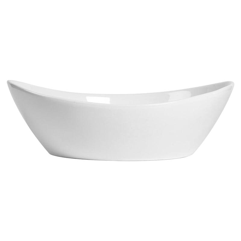 Blanc De Blanc Oval Serve Bowl/Handles