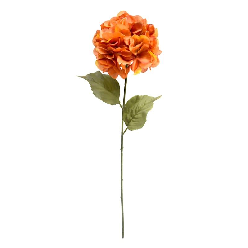 "Orange Hydrangea Stem, 28"""