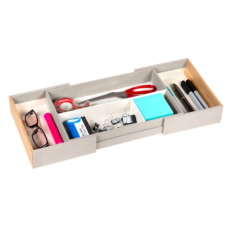 LINE/WOOD EXPAND 3PC TRAY