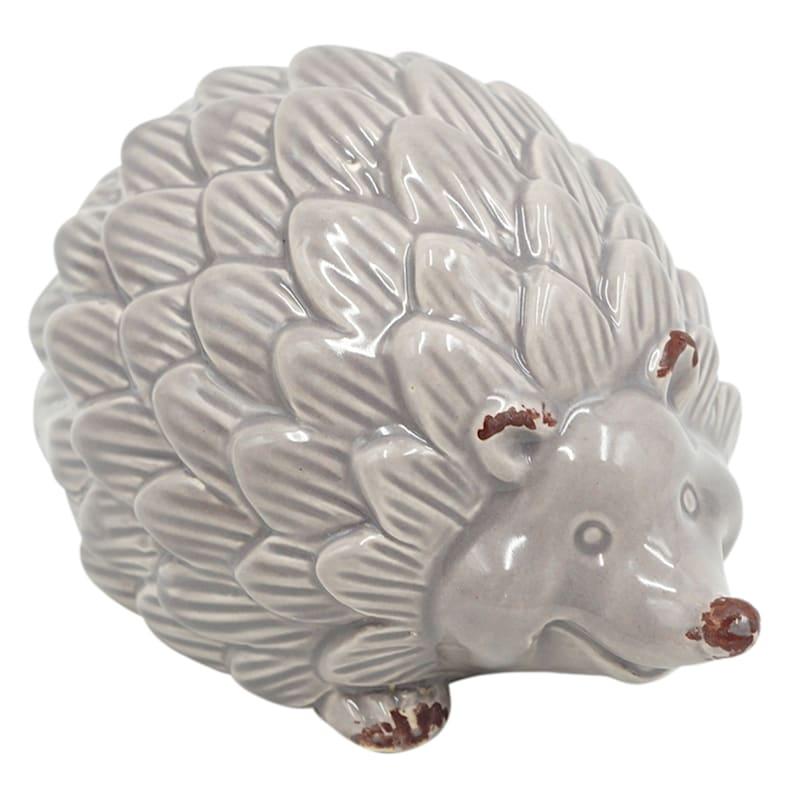 """Grey Ceramic Hedgehog, 5"""""""