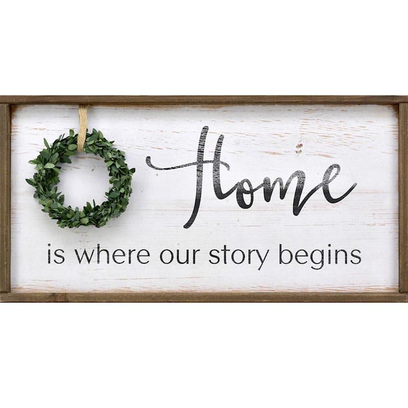 AW 11X23 HOME STORY WREATH