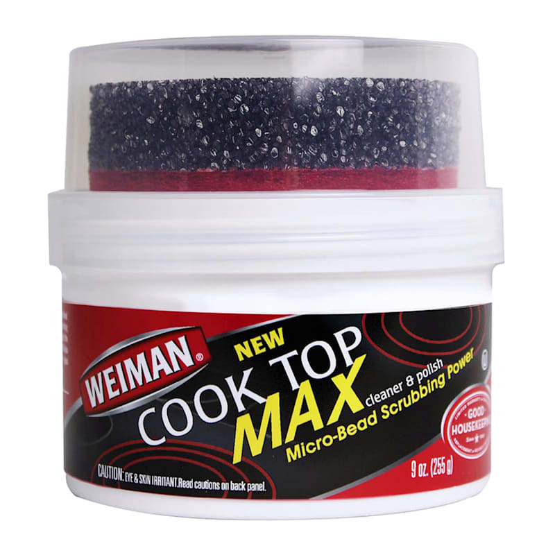 Weiman Cook Top Max Cleaner and Polish with Scrub