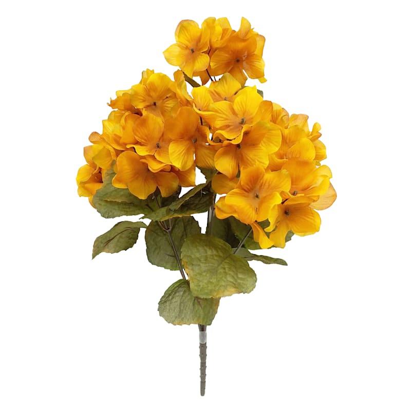 "Yellow Hydrangea Bush, 19"""