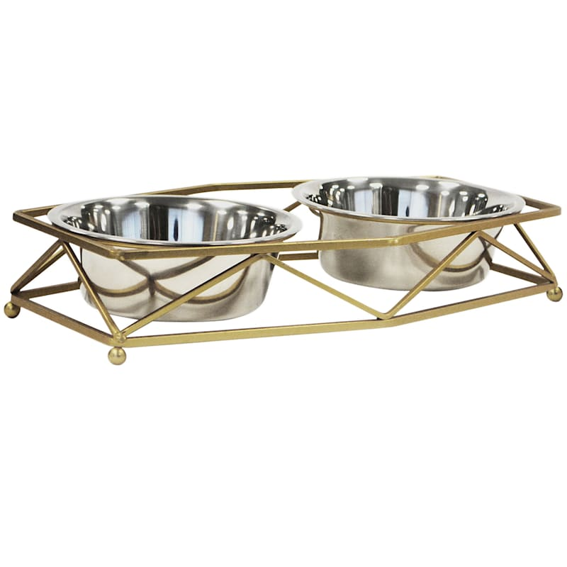 Barkley/Evans Trico Glazed Gold Wire 1 Quart Pet Feeder