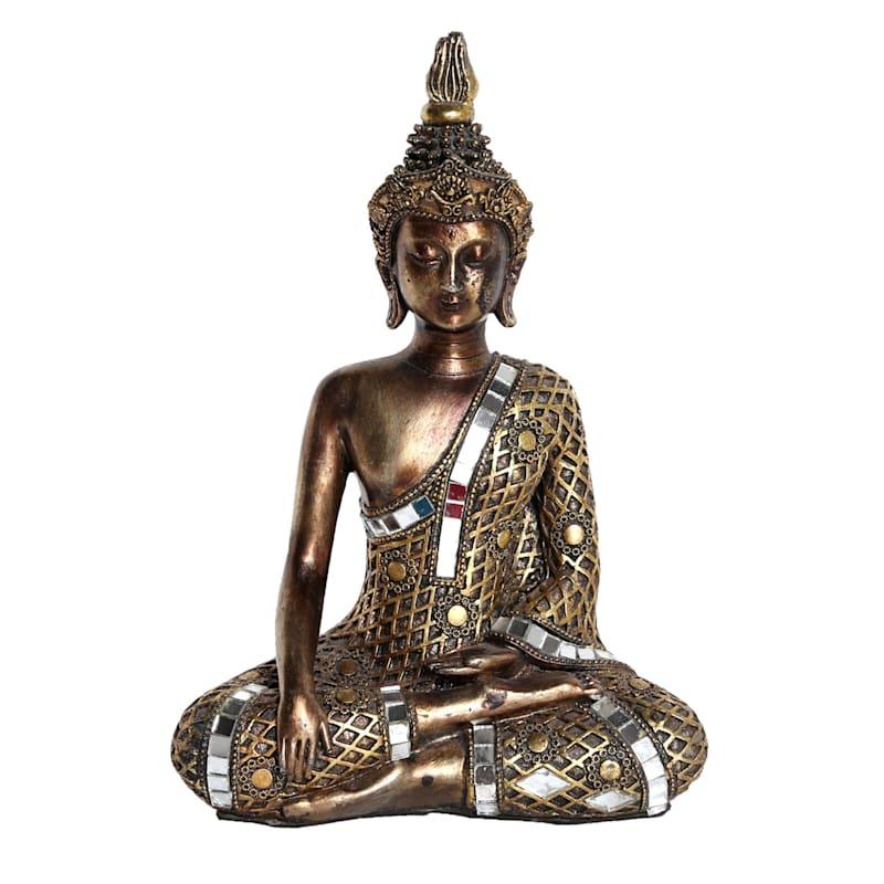 6X9 Silver/Gold Resin Buddha