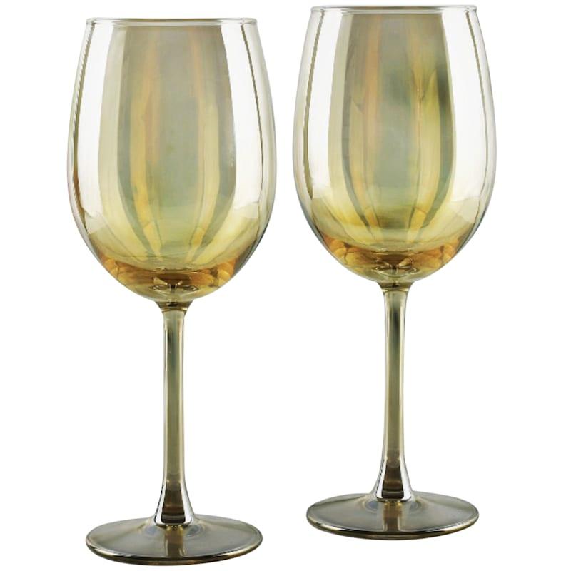 17.5oz Amber Luster Wine Glass