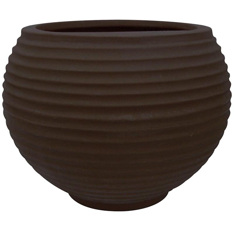 19X29 All Weather Proof Polyresin Lattice Bowl Coffee