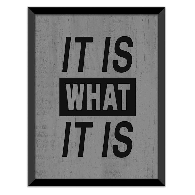 12X16 It Is What It Is Art Framed/Glass