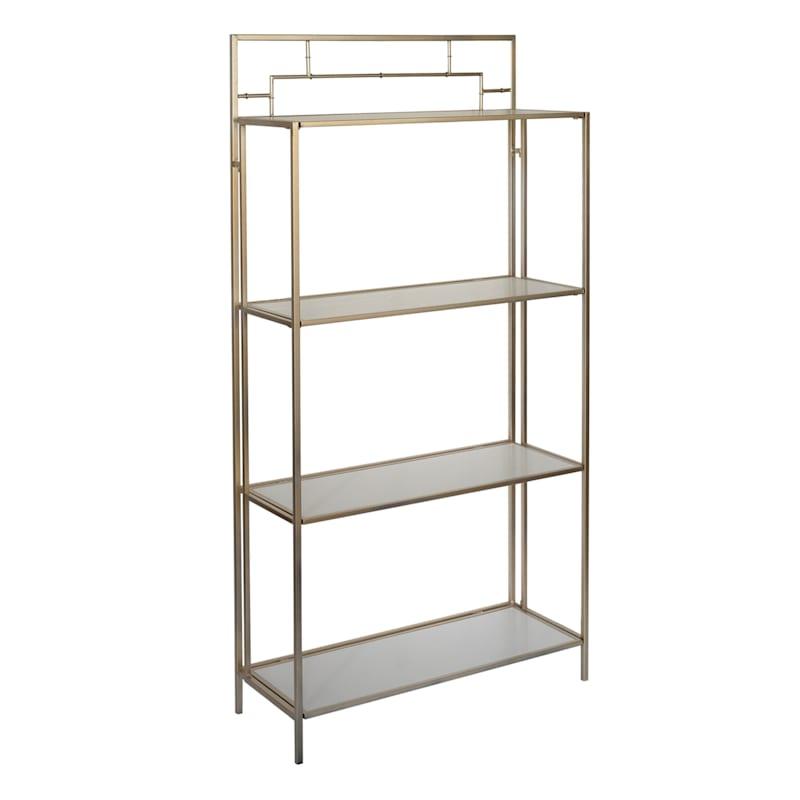 Grace Mitchell Gold Metal Bamboo Folding Shelf, 66in