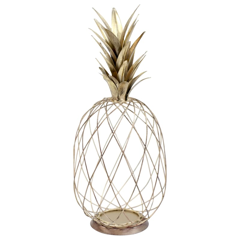 19in. Gold Metal Wire Pineapple