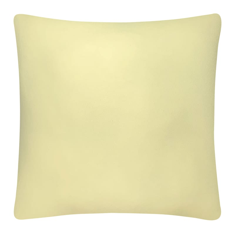 Lemon Solid Color Pillow 18X18