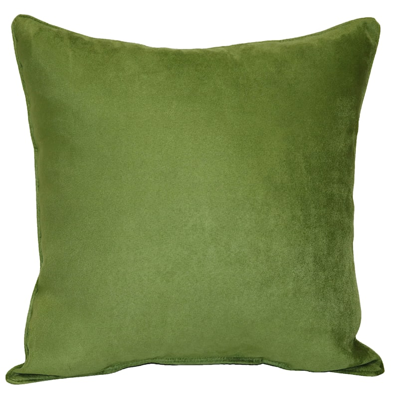 Turtle Green Heavy Faux Suede Oversized Pillow 24X24