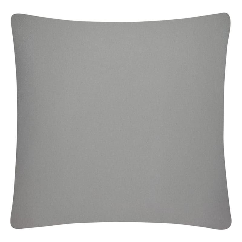 Grey Solid Color Pillow 25X25