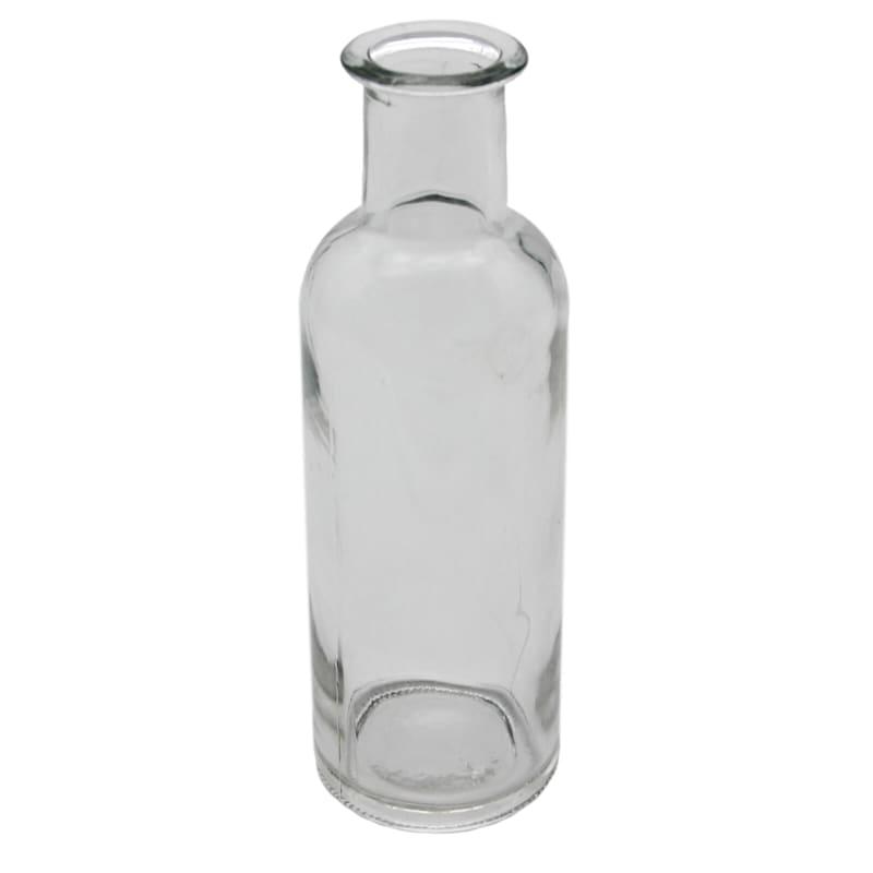2X7 Clear Bottle Vase