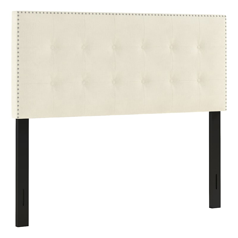 Brian Oyster Tufted Queen Headboard