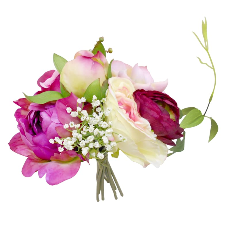 9.5IN PEONY/ROSE BOUQUET