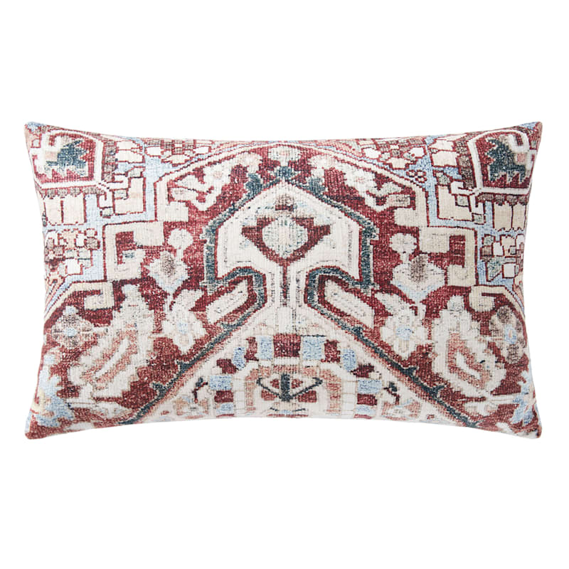 13X21 SETH RED IVORY PILLOW