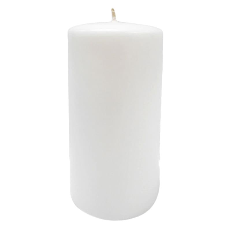 2.8X6 Overdip Pillar Candle White