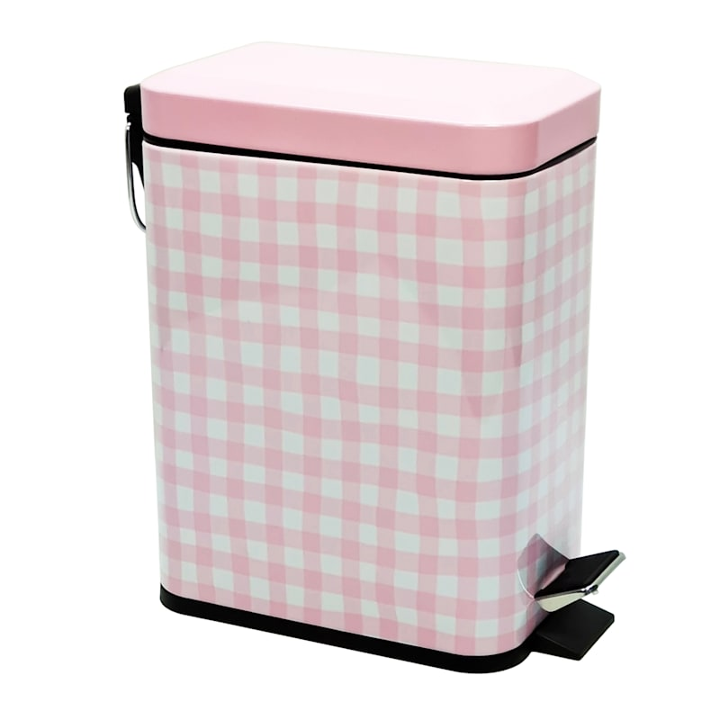 GINGHAM PINK STEP CAN