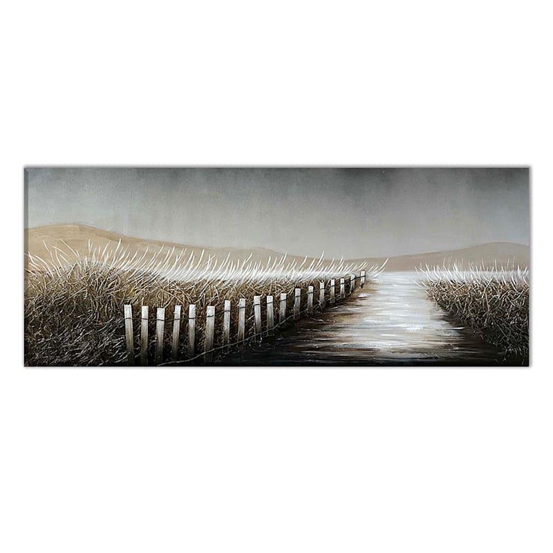 24X60 Coastal Path Enhanced Canvas