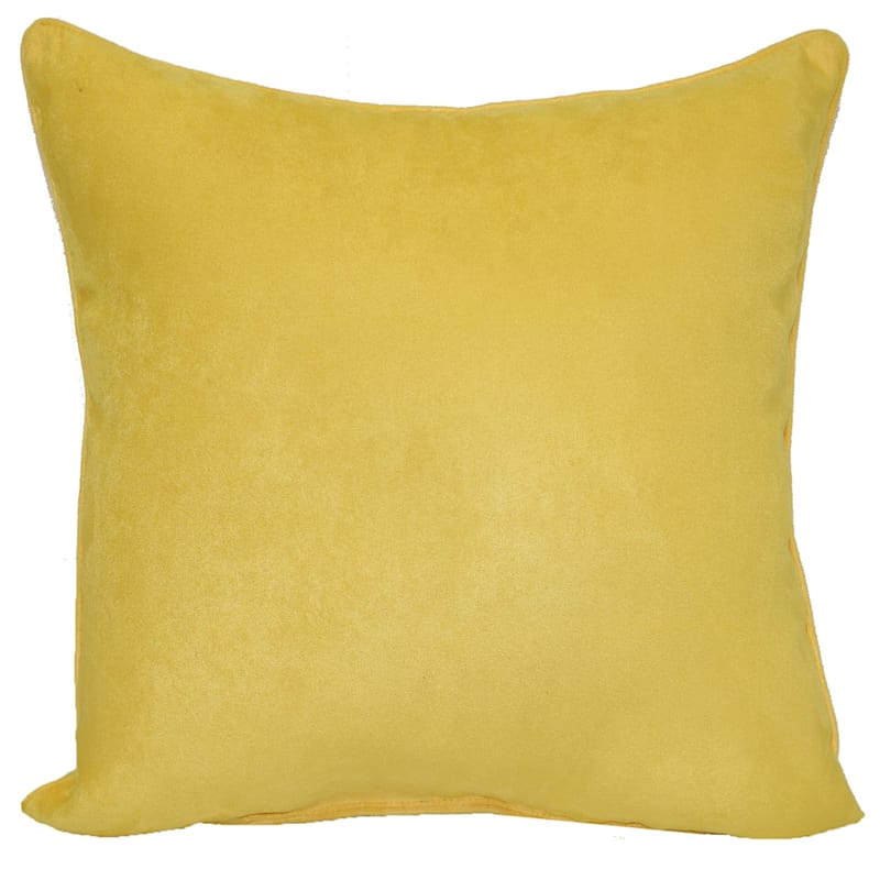 Yellow Heavy Faux Suede Oversized Pillow 24X24
