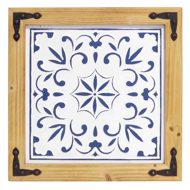 20x20 White/Blue Wooden Panel