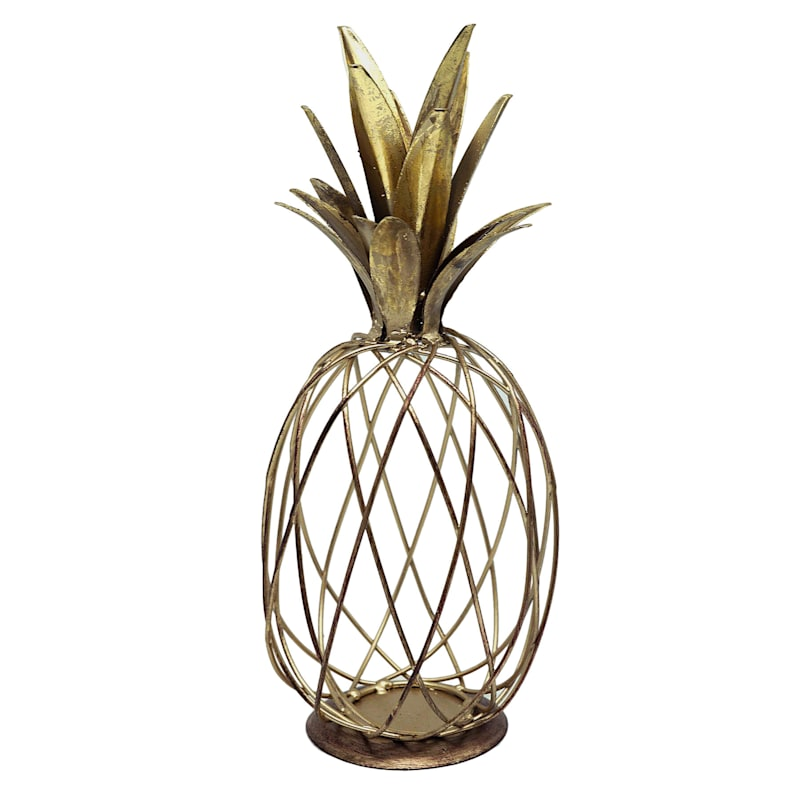 11in. Gold Metal Wire Pineapple Table Top Decoration