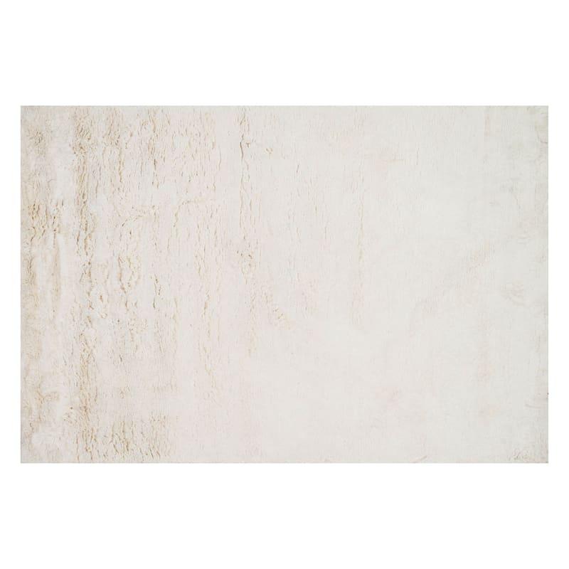 Feelings Hand Tufted Ivory Shag Accent Rug., 2x4