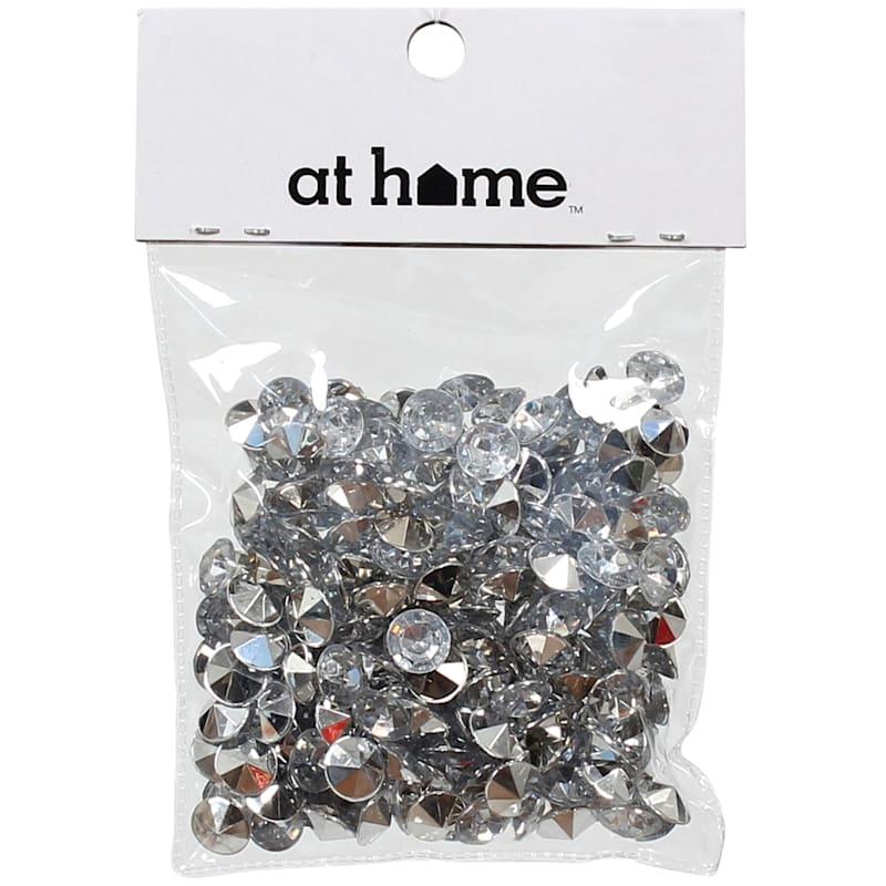 Plastic Silver Gem Scatters 50 Gram In Polybag