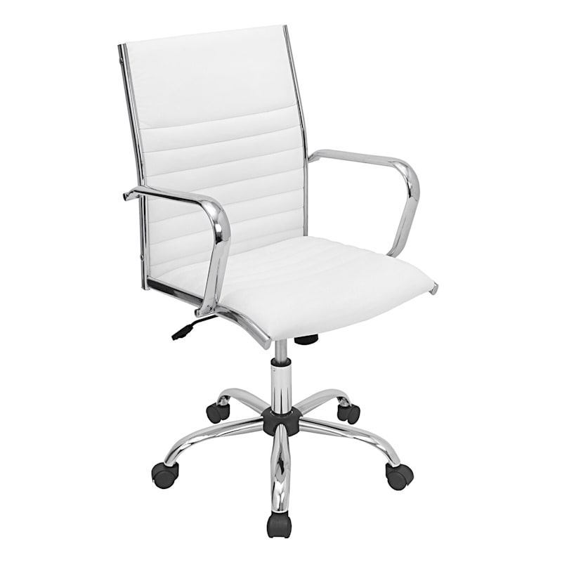 Master White Contemporary Adjustable Office Chair