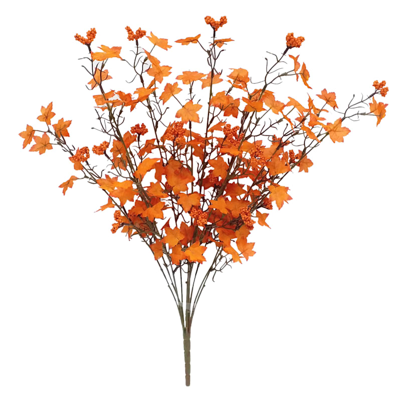 "Mini Orange Maple & Berry Bush, 27"""