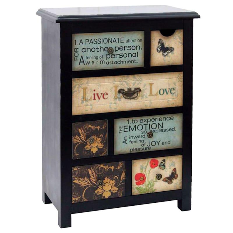 Inspiration Wooden 7-Drawer Cabinet