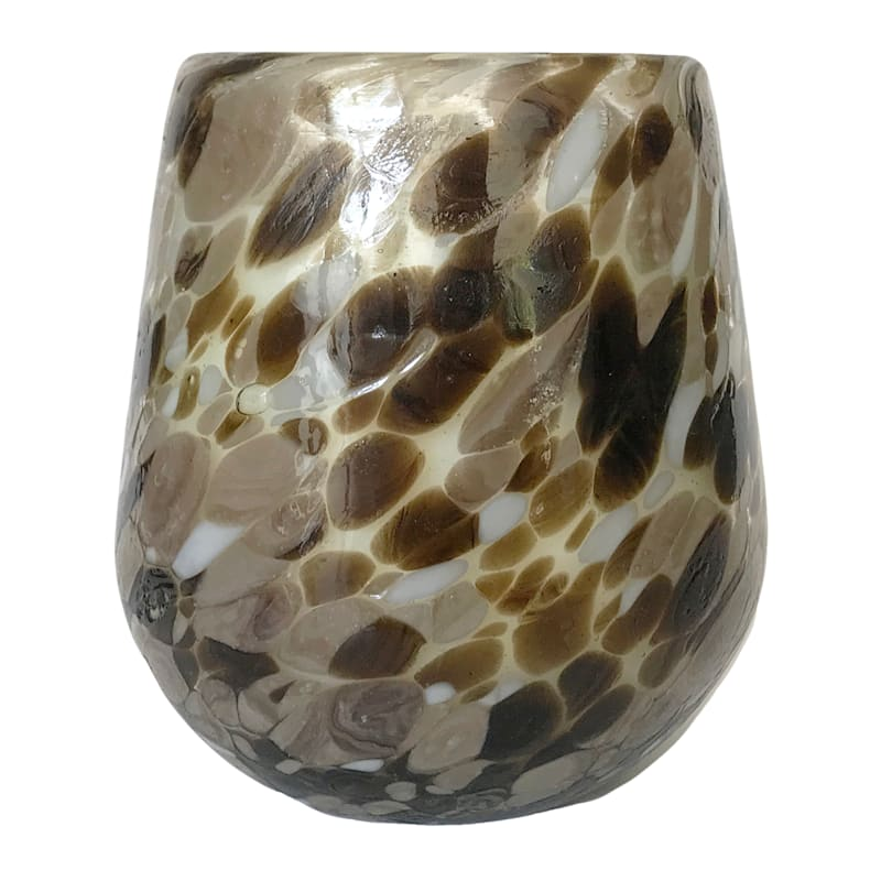 4IN SPECKLE GLASS JAR CANDLE
